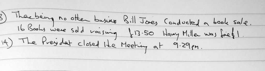 meeting minutes archives dalton book club